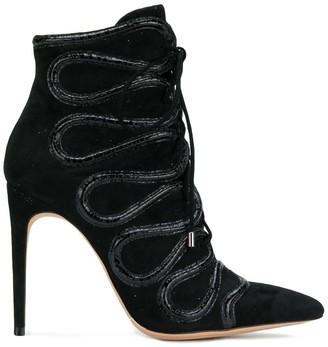 Alexandre Birman Embellished Lace-Up Boots