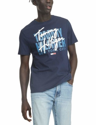 Tommy Hilfiger Men's THD Short Sleeve Logo T Shirt