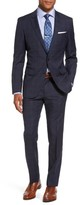 BOSS Men's Huge/genius Trim Fit Plaid Wool Suit