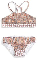 Seafolly Girl's Moroccan Paisley Two-Piece Swimsuit