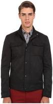 John Varvatos Mixed Fabric Military Jacket O1307R4B