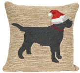 "Liora Manné Frontporch Natural Christmas Dog Pillow Tan - (18""x18"") Square"