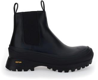 Jil Sander Vibram Sole Chelsea Boots