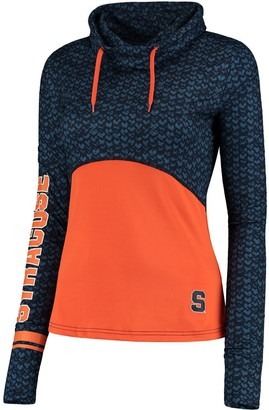 Colosseum Women's Navy/Orange Syracuse Orange Scaled Cowl Neck Pullover Hoodie