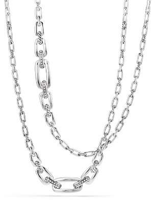 David Yurman Wellesley Chain Link Necklace with Diamonds