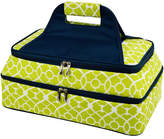 Picnic at Ascot Trellis Green Two-Layer Food Carrier