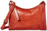 Frye Melissa Zip Crossbody (Burnt Orange) Cross Body Handbags