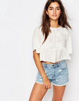 Pull&Bear Flared Sleeved Top