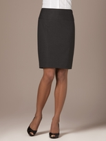 Plainweave Highwaist Pencil Skirt