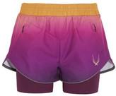 Lucas Hugh Rebel Ombré Shell And Stretch-Jersey Shorts