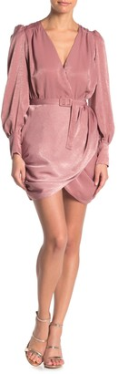 Do & Be Wrap Hem Long Sleeve Mini Dress