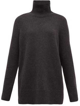 The Row Sadel Roll-neck Cashmere Sweater - Dark Grey
