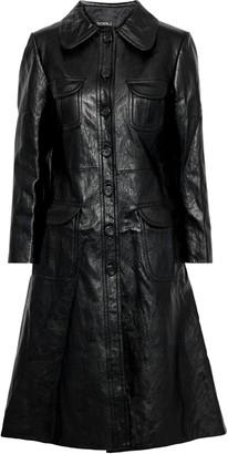 GOEN.J Faux Textured-leather Coat