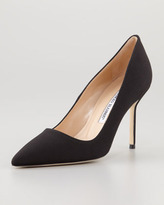 Manolo Blahnik BB Crepe de Chine Pump, Black