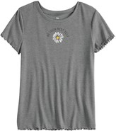 So Girls' 7-16 SO Short Sleeve Lettuce Edge Tee