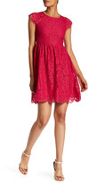 Jessica Simpson Cap Sleeve Lace Dress