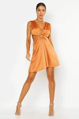 boohoo Cut Out Luxe Mini Dress