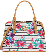 Giani Bernini Floral Stripe Dome Satchel, Only at Macy's