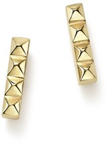 Chicco Zoë 14K Yellow Gold Spiked Bar Stud Earrings