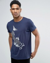 Esprit Slim Fit T-Shirt with Japanese Fish Print