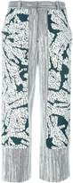 Cédric Charlier panelled wide-leg trousers