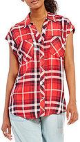Takara Rolled-Cuff Plaid Button-Front Shirt