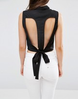 Vero Moda Kayla Cut Out Cropped Shirt