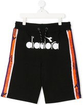 Diadora Junior contrast panel shorts