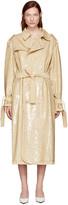 Ashish Beige Sequin Trench Coat