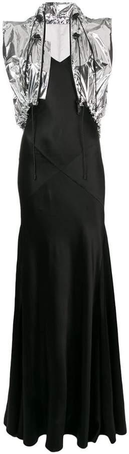 Maison Margiela foiled gilet gown