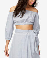 Rachel Roy Cotton Ruched Crop Top, Created for Macy's