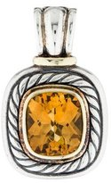 David Yurman Bi-Color Citrine Large Albion Enhancer Pendant