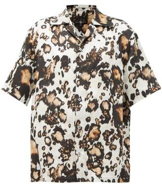 Edward Crutchley Animal-print Silk Shirt - Leopard