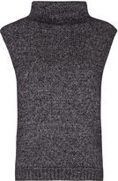 Oxford Sleeveless Turtle Neck Charcoal X
