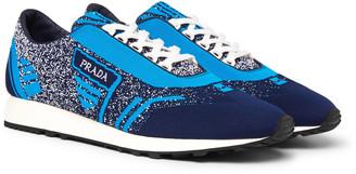 Prada Milano 70 Stretch-Knit Sneakers