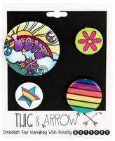 Twig + Arrow Love and Peace Pin Buttons
