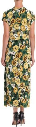 Donna Morgan Floral Short Sleeve O-Ring Maxi Dress