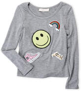 Baby Sara Girls 4-6x) Long Sleeve Patches Top