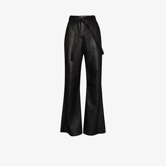 Joseph Tambo Flared leather Trousers