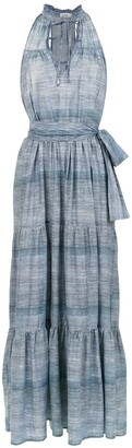 AMIR SLAMA Long Denim Dress