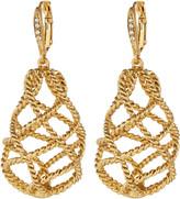 Oscar de la Renta Twisted Cage Drop Earrings