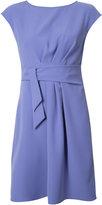 Armani Collezioni belted draped dress - women - Polyester - 48