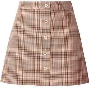 Paul & Joe Tartan Checked Cotton-twill Mini Skirt