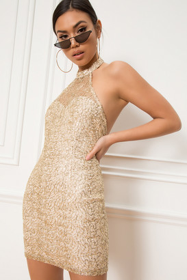 About Us Sunny Halter Mini Dress