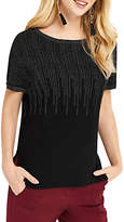 Oasis Ombre Sparkle T-Shirt, Black