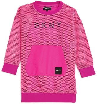 DKNY Two-in-One Logo Pocket Dress (6-16 Years)