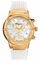 Salvatore Ferragamo Women's F80 Chronograph Rubber Strap Watch, 39Mm