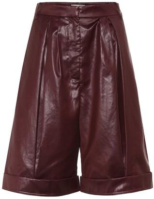 Tibi Liquid drape shorts