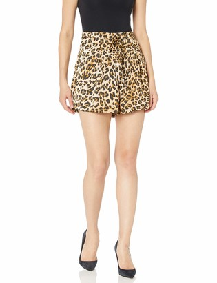 Moon River Women's High Waisted Paperbag Shorts with Belt