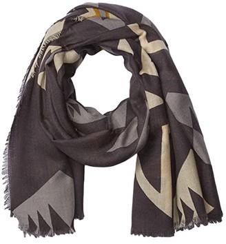 Pendleton Oversize Featherweight Wool Scarf (Plains Star Grey) Scarves